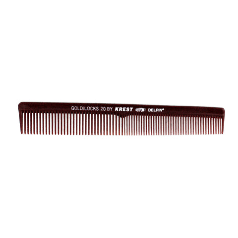 7in, Delrin Plastic, Finger Wave Comb with Inch Marks