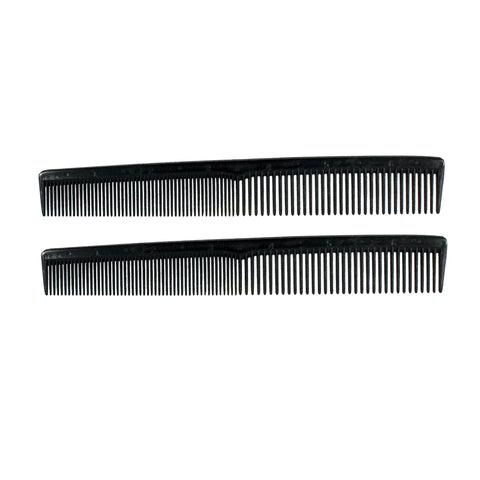 7in Plastic Styling Comb w/Inch Marks (2 Pack)