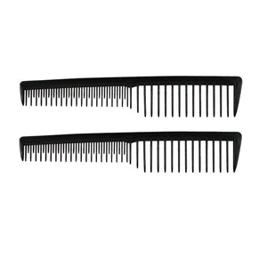 7in Plastic Wide Tooth Tease Comb  (2 Pack)