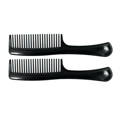 8.5in Plastic Handle Comb (2 Pack)