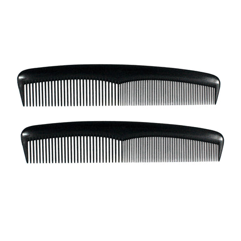 8in Plastic Heavy Wave Comb (2 Pack)
