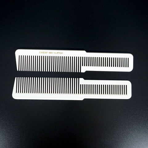 8in Plastic Klipper Comb - White (2 Pack)