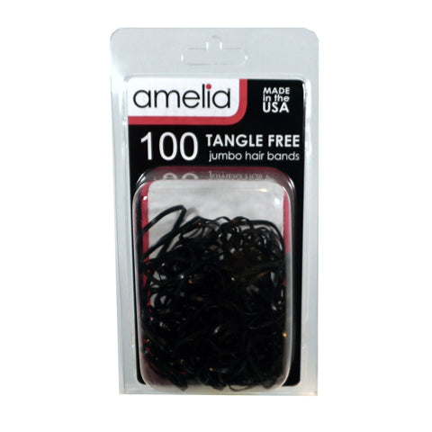 100, Black, Jumbo, Tangle Free Bands for Pony Tails and Braids