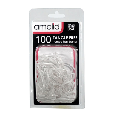 100, White, Jumbo, Tangle Free Bands for Pony Tails and Braids
