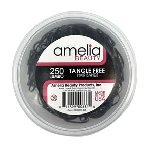 250, Black, Jumbo Size, Tangle Free for Ponytails and Braids