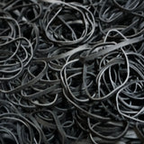 60, Black, Giant Size, Rubber Bands for Pony Tails, Braids and Dreadlocks
