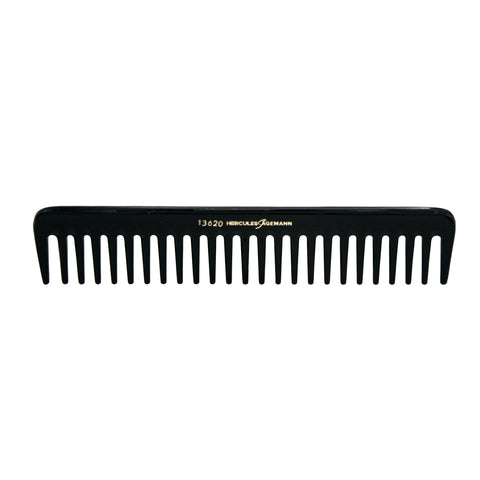 Hard Rubber, 7.5in Wide Tooth Styling Comb, Hercules Sagemann