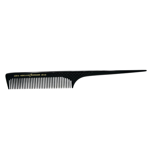 Hard Rubber, 8in Rat Tail Course Tooth Comb, Hercules Sagemann 209R8-494R8