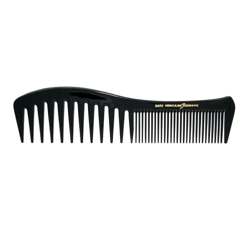 Hard Rubber, 7.75in Curved Styling Comb, Hercules Sagemann