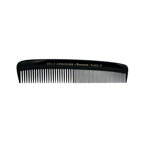Hard Rubber, 5in Pocket Comb, Hercules Sagemann