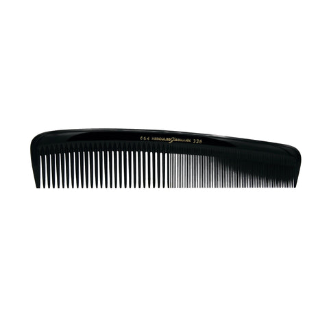 Hard Rubber, 8in Styling Comb, Hercules Sagemann