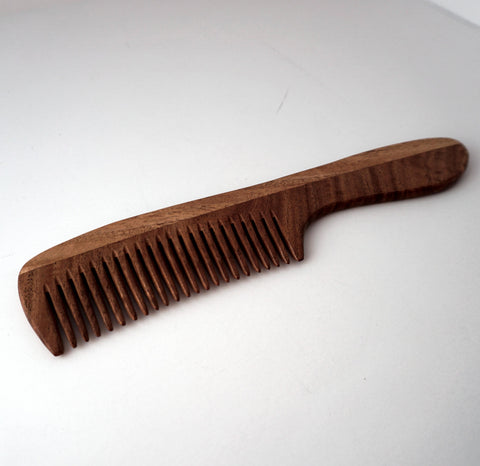 9in Neem Wood Handle Comb