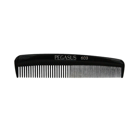 6in, Pegasus 603, Hard Rubber, Tapered Pocket Comb