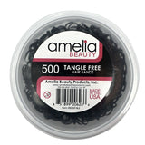 500, Black, Standard Size, Tangle Free for Pony Tails and Braids