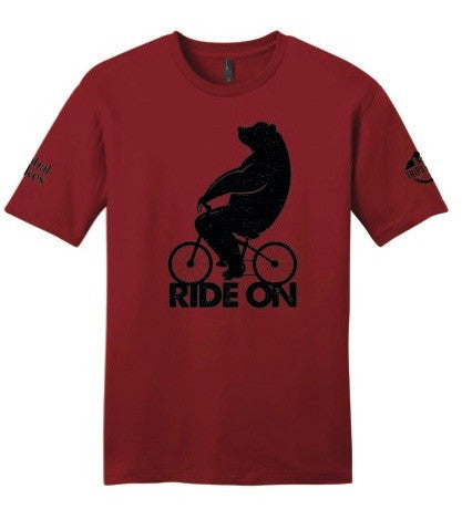 Bear on a Bike Dark Red - Super Soft