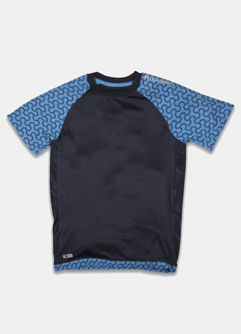 Boy's Mesh Short Sleeve Performance T-Shirt with Graphic  Grey
