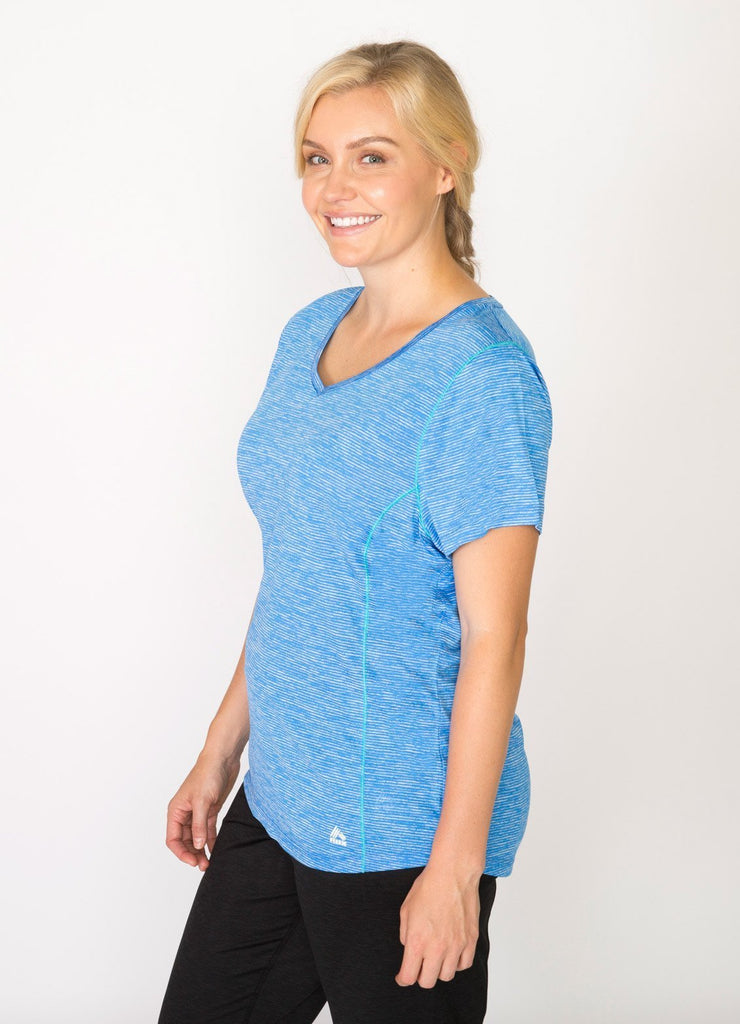 Plus Linea Short Sleeve V-Neck Running T-Shirt – RBX Active