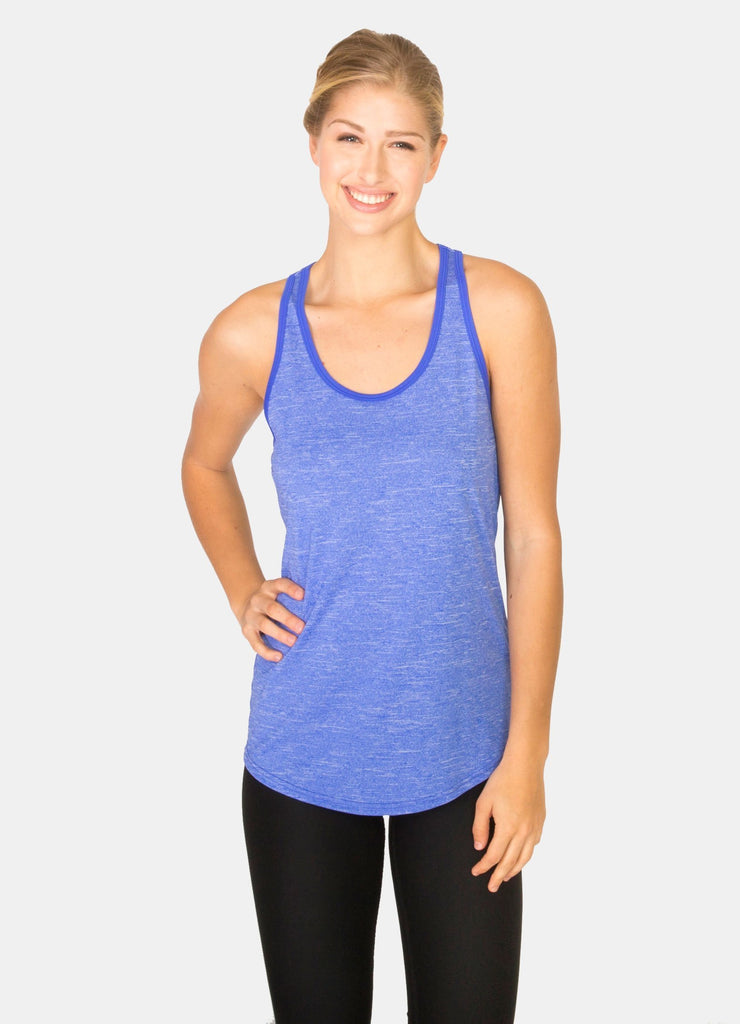 Striated Keyhole Back Racer back Tank Top