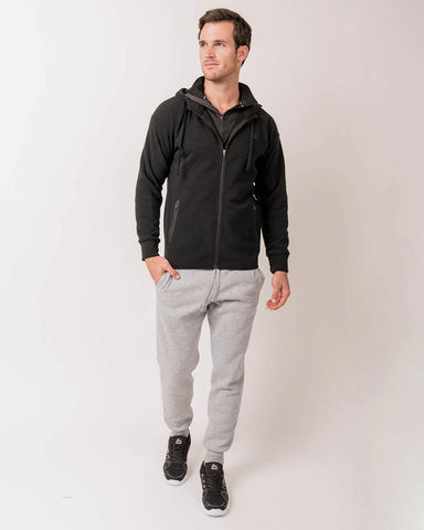 Lumen Full Zip Fleece Hooded Sweatshirt