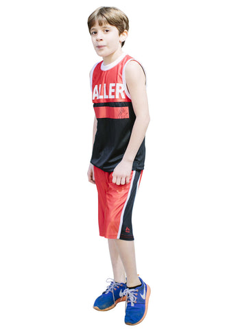 Boy's 2 Piece Printed Tank Top and Basketball Shorts Set