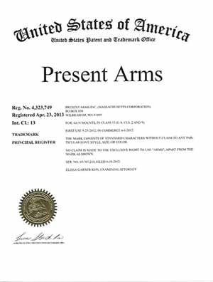 Present Arms Trademark