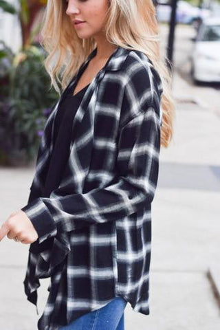 Fall layering - plaid cardigan