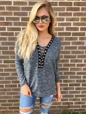 Fall trends lace up top