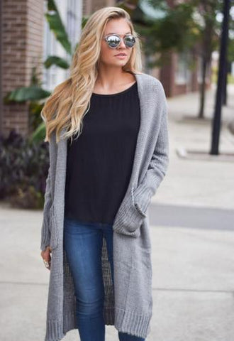 Fall layering - knit cardigan