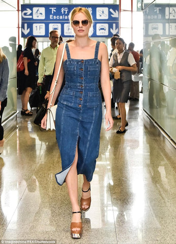 Margot Robbie Denim Dress Inspiration
