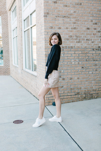Creamy Camouflage Skirt