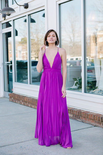 Petunia Pleated Maxi Dress