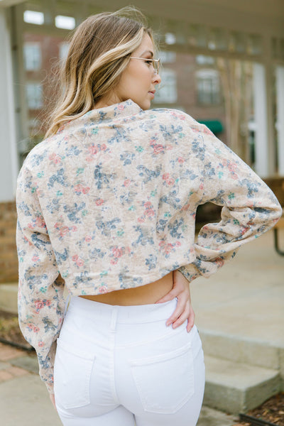Floral Pastels Cropped Top