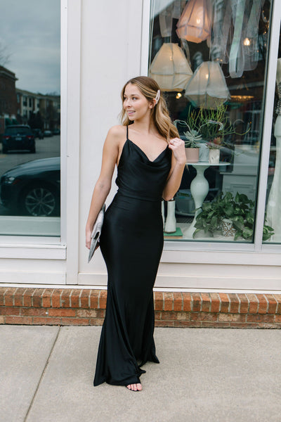 Midnight Mermaid Maxi Dress