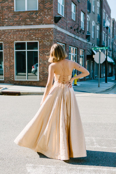 The Golden Goddess Gown