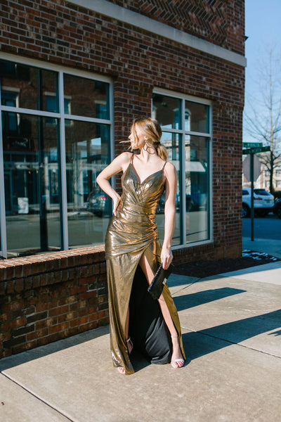 The Grammy Metallic Gown