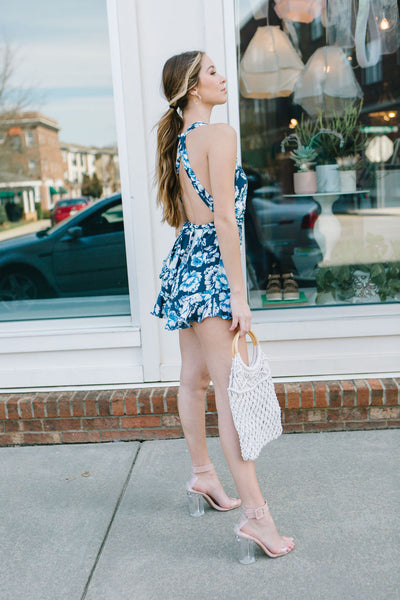 French Florals Wrap Romper