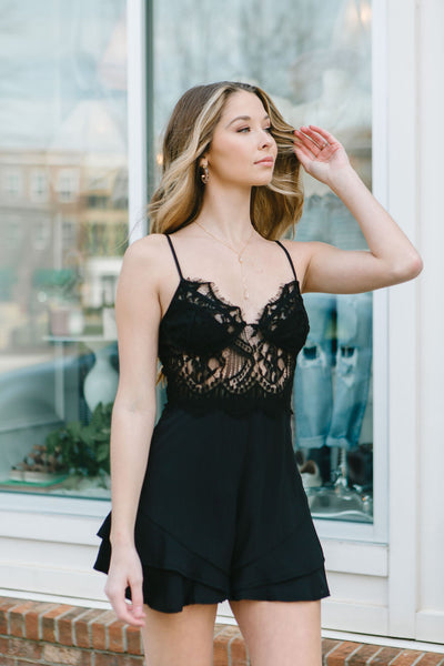 Darkest Hour Lace Romper