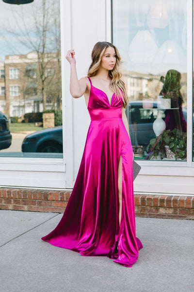 The Sherri Satin Gown