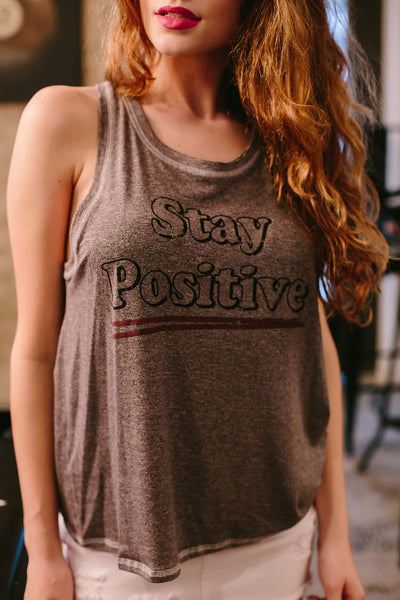 Stay Positive Graphic Tank