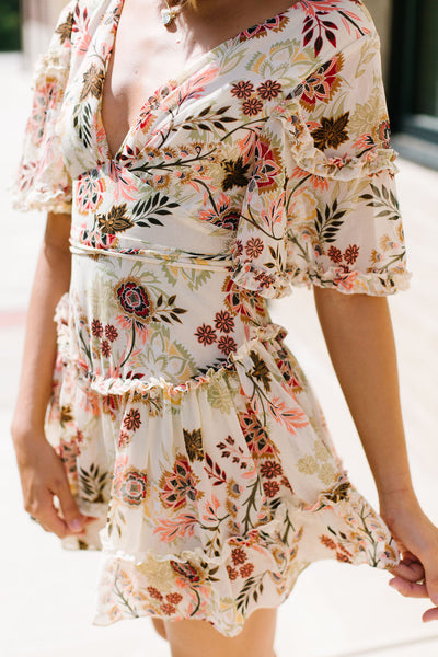 Botanical Boho Dress
