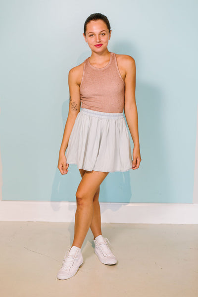 The Lulu Light Denim Skirt