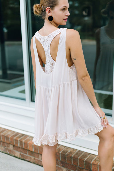 Pinky Bralette T Shirt Dress