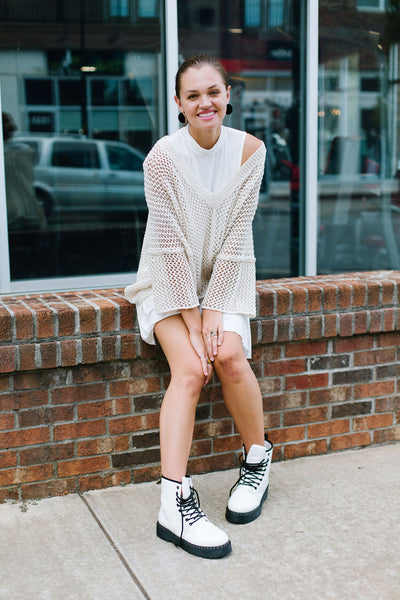 Freely Netted Sweater