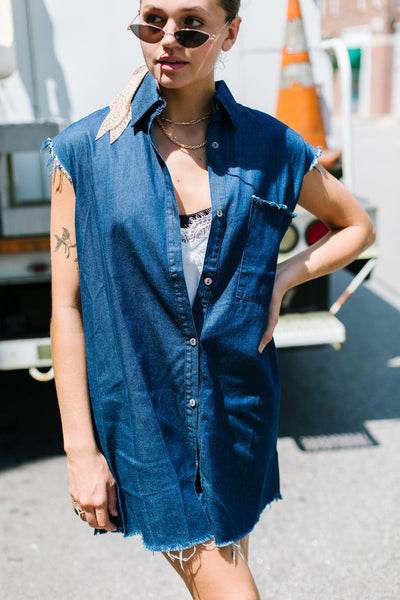 Machine Gun Kelly Denim Dress