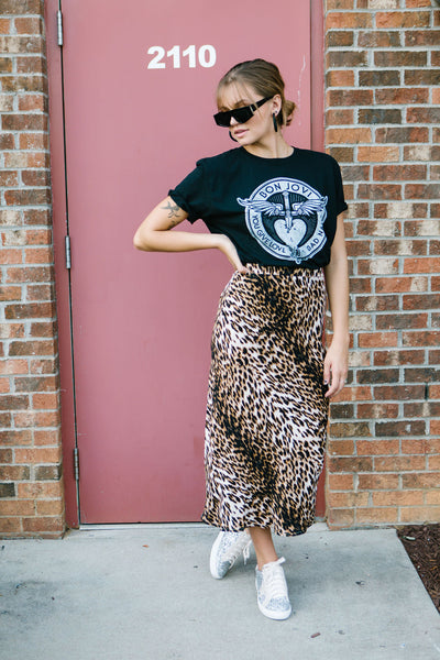That's Wild Leopard Midi Skirt