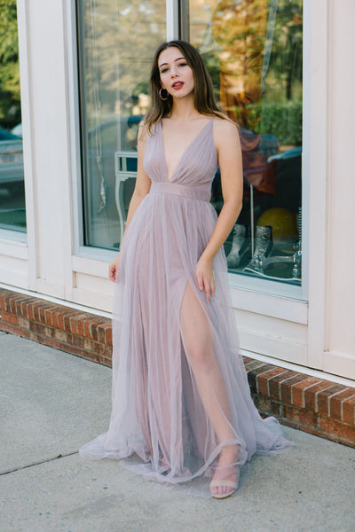 Breakfast At Tiffany Tulle Maxi Dress
