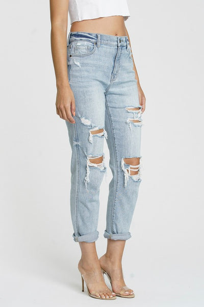 Early Morn Boyfriend Distress Jeans