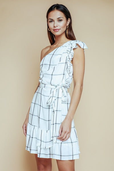 Off The Grid Ruffle Dress