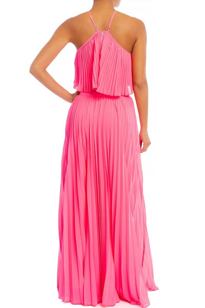 Strawberry Sugar Pleated Maxi Skirt