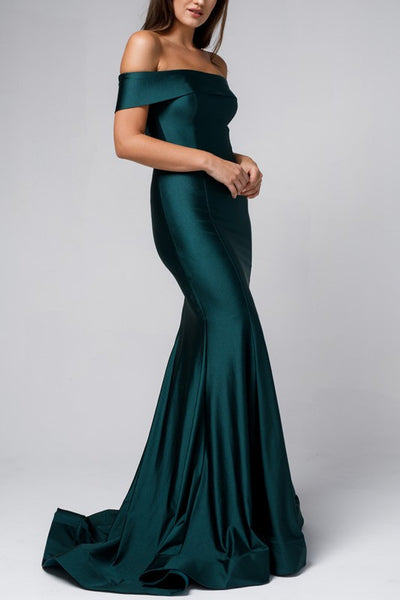 The Blake Off The Shoulder Gown